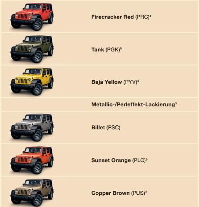 2015 Jeep Wrangler Color Chart Car Interior Design